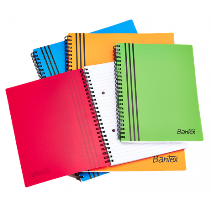 Bantex A5 PP Cover Spiral Bound Note Book