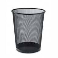 Alba Mesh Round Office Bin Black