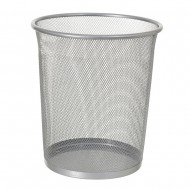 Alba Mesh Round Office Bin Grey