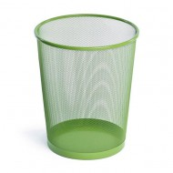 Alba Mesh Round Office Bin Green