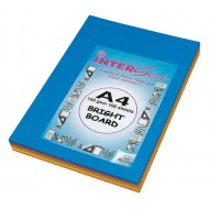 A4 160gsm Board Assorted Colours 100 Sheets