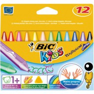 Bic Kids Plastidecor Triangular Crayons 12's