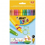 Bic Kids Turn & Colour Retractable Crayons 12's