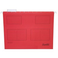 Bantex Foolscape Suspension Files 10's Red
