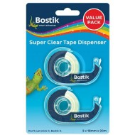 Bostik Clear Tape Dispenser Value Pack