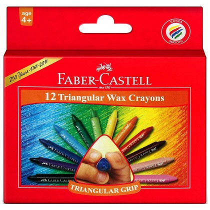 Faber-Castell Triangular Wax Crayons 12's