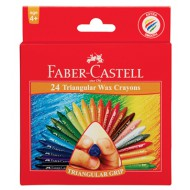 Faber-Castell Triangular Wax Crayons 24's
