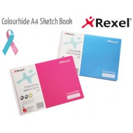 Rexel A4L Colourhide Sketch Book Blue