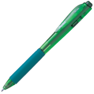 Pentel Retractable Medium Point Pen Green