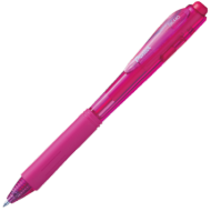 Pentel Retractable Medium Point Pen Pink