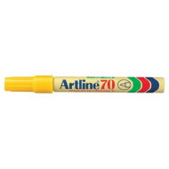 Artline EK70 Bullet Point Permanent Marker Yellow