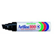 Artline EK100 Chisel Point Permanent Marker Black