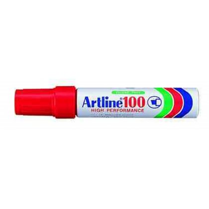 Artline EK100 Chisel Point Permanent Marker Red