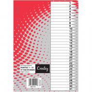 Croxley PP Printed Index Tabs 1 - 31