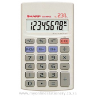Sharp EL-231 8 Digit Handheld Calculator