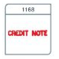 X-Stamper 1168 Credit Note