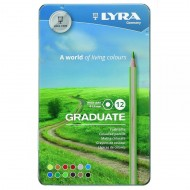 Lyra Graduate Colour Pencils 12's In Tin
