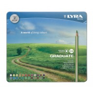 Lyra Graduate Colour Pencils 24's In Tin