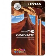 Lyra Graduate Fineliner In Tin 10's