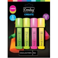 Croxley Create Highlighters 4's