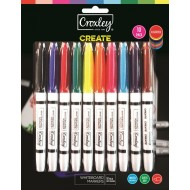Croxley Create Fine Whiteboard Markers 10's
