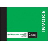Croxley A6 Duplicate Invoice Book 100 Page