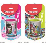 Maped Tattoo Metal Sharpener 2 Hole Cannister