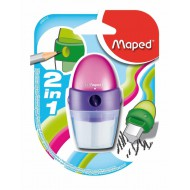 Maped Astro 1-Hole Sharpener + Eraser - Assorted
