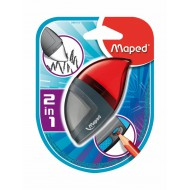 Maped Moondo Sharpener 1-Hole Cannister + Eraser