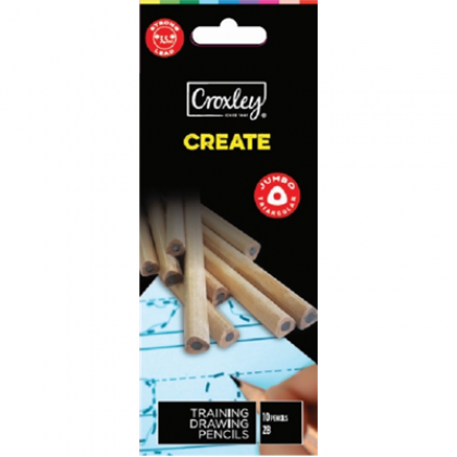 Croxley Create Triangular Pencil 2B 10's