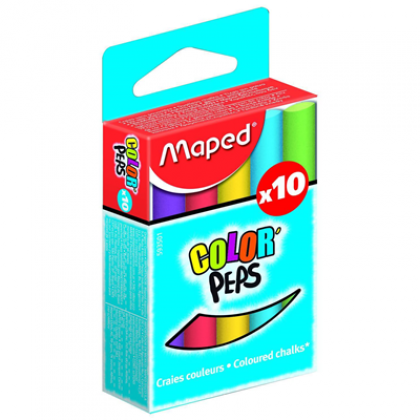 Maped Color'Peps Coloured Chalk 10's