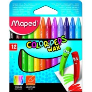 Maped Color'Peps Triangular Wax Crayons 12's