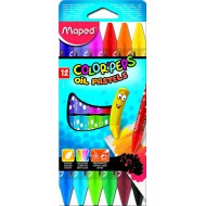 Maped Color'Peps Triangular Oil Pastels 12's