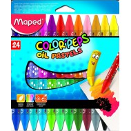 Maped Color'Peps Triangular Oil Pastels 24's