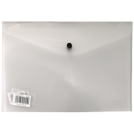 Croxley A4 PVC Envelope With Button Clear