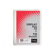 Croxley A4 Hard Cover 10 Pocket Display Folder