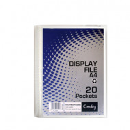 Croxley A4 Hard Cover 20 Pocket Display Folder