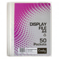 Croxley A4 Hard Cover 50 Pocket Display Folder