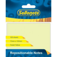 Sello-Note 75 x 102mm Yellow