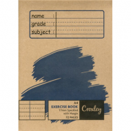 Croxley A4 72 Page Exercise Book 17mm Speckled Line & Margin