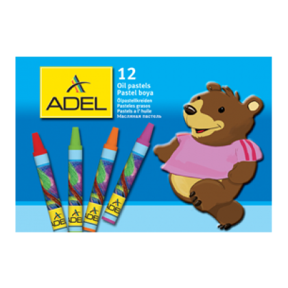 Adel Round Oil Pastels 12's