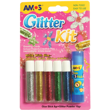 Amos Glitter Powder and Glue Stick
