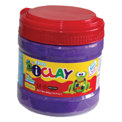 Amos iClay 400g Bucket Purple
