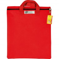 4Kids Nylon Library Book Bag With Handle Red