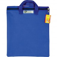 4Kids Nylon Library Book Bag With Handle Blue