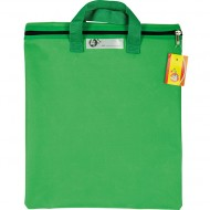 4Kids Nylon Library Book Bag With Handle Green