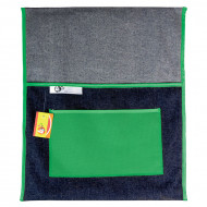 4 Kids Denim 380mm Chair Bag Green