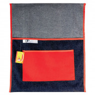 4 Kids Denim 380mm Chair Bag Red