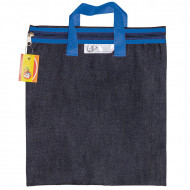 4 Kids Denim Library Book Bag With Handle Blue