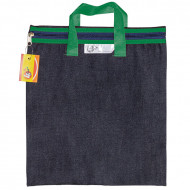 4 Kids Denim Library Book Bag With Handle Green